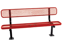 Plastic-Coated Steel Benches