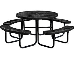 Plastic-Coated Steel Picnic Tables