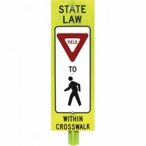 Double-Sided Pedestrian Crosswalk Signs