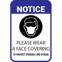 Notice Please Wear A Face Covering Sign