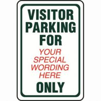 Visitor Parking Semi-Custom Sign