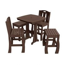 Ruby 5-Piece Mixed Bar Height Patio Dining Set