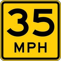 Advisory Speed Semi-Custom MPH Sign