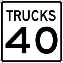 Trucks Speed Limit, Semi-Custom Sign