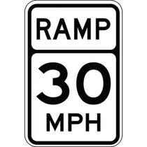Ramp, Semi-Custom MPH Sign
