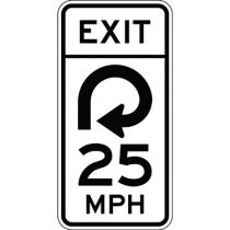Advisory Exit Speed, Semi-Custom MPH Sign
