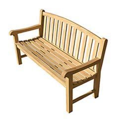 Courtyard Natural Teak Arched Back Bench
