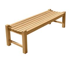 Courtyard Natural Teak Backless Bench
