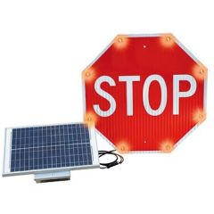 Flash Alert Solar Stop Sign