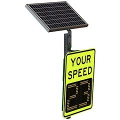 "Speed Aware 9"" Radar Speed Sign - Yellow Green"