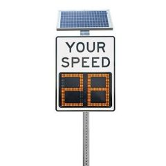 "Speed Aware 12"" Radar Speed Sign - White"