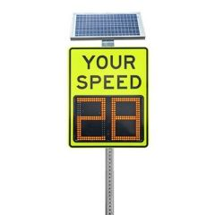 "Speed Aware 12"" Radar Speed Sign - Yellow Green"