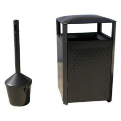 38-Gallon Steel Receptacle Combo