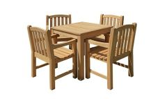 Courtyard Natural Teak 5-Piece Dining Set