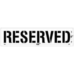 Reusable Plastic Stencil - Reserved