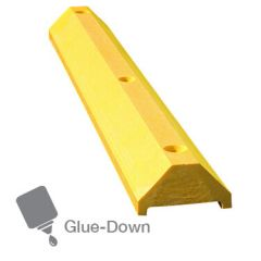 Mighty-Mite Low Profile Glue Down Wheel Stops