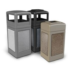 Commercial Earth-Tone Trash Cans