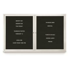 Outdoor Double Door Letter Boards