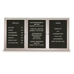 Outdoor Triple Door Letter Boards