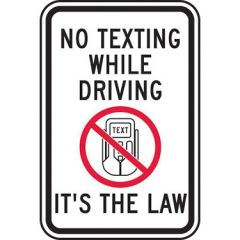 No Texting While Driving It's The Law