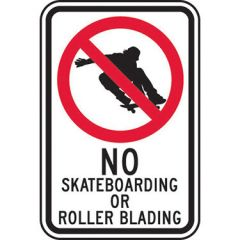 No Skateboarding Or Roller Blading