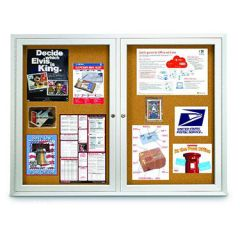Indoor Double Door Cork Boards