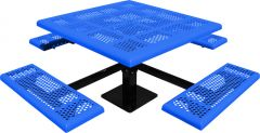 Comfort Series Square Pedestal Picnic Tables