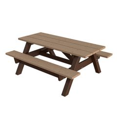 Traditional Recycled Plastic Picnic Tables