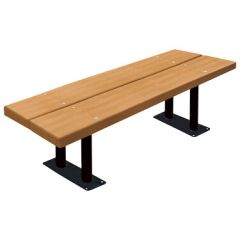 BarcoBoard™ Steel Frame Double-Board Backless Benches