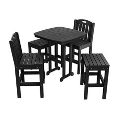 Time-Honored 5-Piece Mixed Bar Height Patio Dining Set