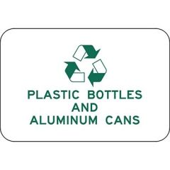 Recycle Plastic Bottles And Aluminum Cans with Symbol Sign