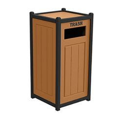 Two-Tone Panel Recycling Containers - Single Unit