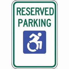 ADA Reserved Parking Updated Accessible Symbol Sign