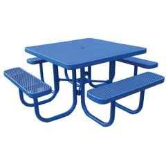 Heavy-Duty Square Plastic-Coated Table